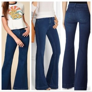 J Brand LOVE STORY Retro Vintage Flare Wide Jeans